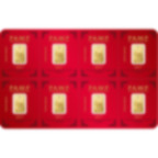8x1 grammo multigrammo lingottino d'oro puro 999.9 - PAMP Suisse Lunar Gallo