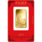 1 Unze FeinGoldbarren 999.9 - PAMP Suisse Lunar Schwein