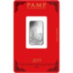 10 grammi lingottino d'argento puro 999.0 - PAMP Suisse Maiale Lunare