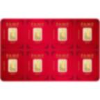 8x1 gram multigram Fine Gold Bar 999.9 - PAMP Suisse Lunar Pig