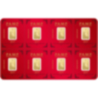 8x1 grammo multigrammo lingottino d'oro puro 999.9 - PAMP Suisse Lunar Maiale