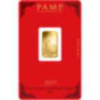 5 gram Fine Gold Bar 999.9 - PAMP Suisse Lunar Pig