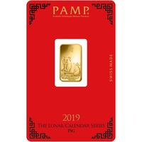5 grammes lingotin d'or pur 999.9 - PAMP Suisse Lunar Cochon