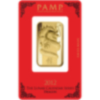 1 oz Fine Gold Bar 999.9 - PAMP Suisse Lunar Dragon