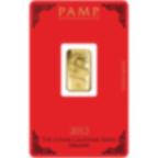 5 gram Fine Gold Bar 999.9 - PAMP Suisse Lunar Dragon