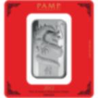 100 Gramm FeinSilberbarren 999.0 - PAMP Suisse Lunar Drache