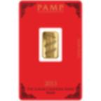 5 Gramm FeinGoldbarren 999.9 - PAMP Suisse Lunar Schlange