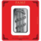 100 gram Fine Silver Bar 999.0 - PAMP Suisse Lunar Snake