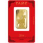1 once lingotin d'or pur 999.9 - PAMP Suisse Lunar Cheval