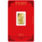 5 Gramm FeinGoldbarren 999.9 - PAMP Suisse Lunar Pferd
