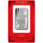 Lingotin d'argent de 1 once pur 999.0 - PAMP Suisse Lunar Cheval
