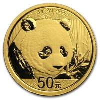 Panda Chinois en or de 3 grammes BU - 2018