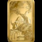 Investir dans l'or, 1 once Lingotin, Lingot d'or pur Lunar Boeuf - PAMP Suisse - Back