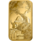 Invest in 1 oz Fine gold Lunar Ox - PAMP Swiss - Back