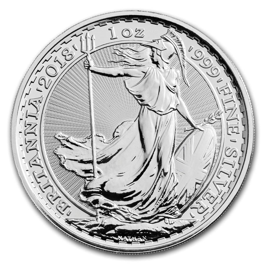2018 U.K. 1 oz Silver Britannia BU