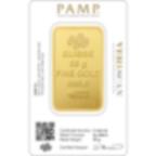 Buy gold, 50 grams Fine gold Lady Fortuna ingot - PAMP Swiss - Veriscan - Back