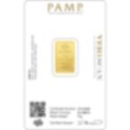 Comprare 5 grammi lingottino d'oro puro 999.9 - PAMP Suisse Lady Fortuna - Veriscan - Back