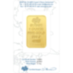 Invest in 1 oz Fine gold Swiss New - PAMP Swiss - Back