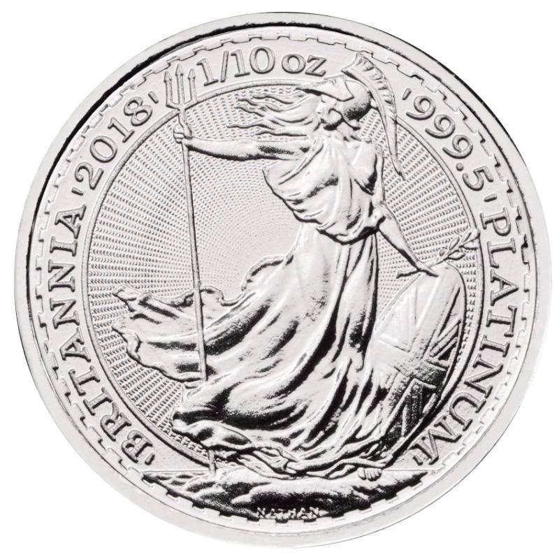 2018 U.K. 1/10 oz Platinum Britannia BU