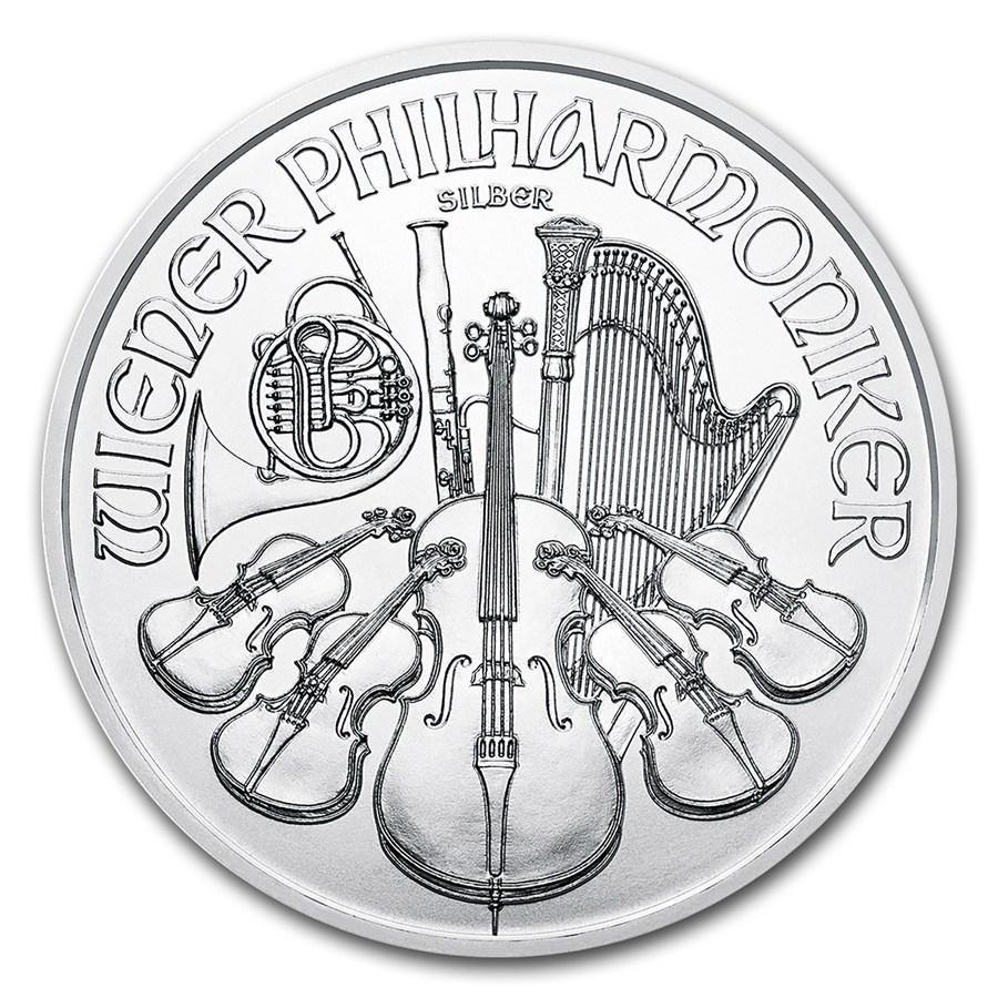 Acquistare Tubo da 20 Monete - 1 oncia d'argento puro 999.0 Filarmonica - Zecca Austriaca - Front
