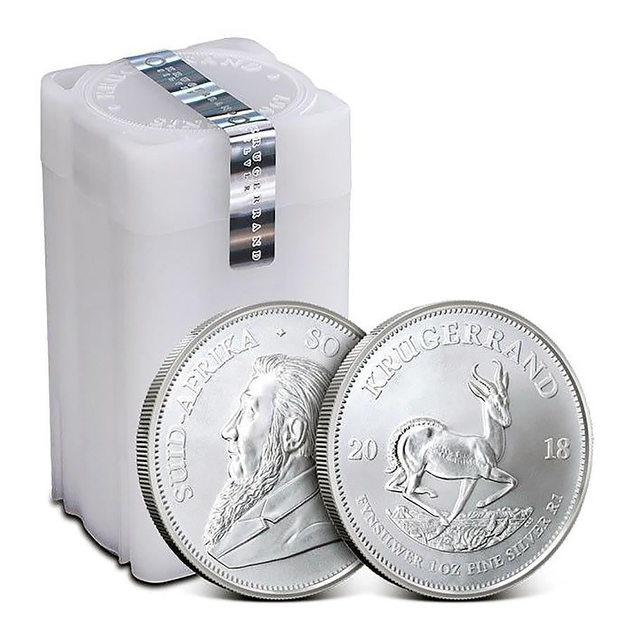 Investire in Tubo di 25 Monete Krugerrand d'Argento - Zecca sudafricana - Monete Tubo