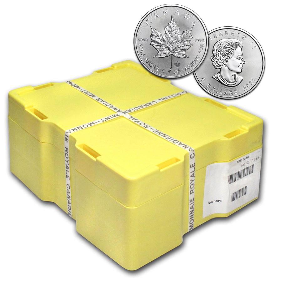 Acquistare 500 Monete Maple Leaf d'Argento Monster Box  - Zecca Reale Canadese - Monster Box
