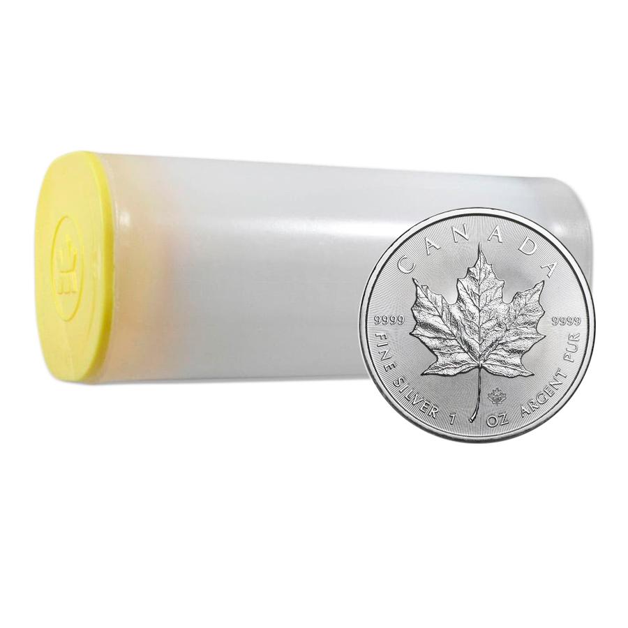 Acquistare Tubo da 25 Monete Maple Leaf d'Argento  - Zecca Reale Canadese - Monete Tubo