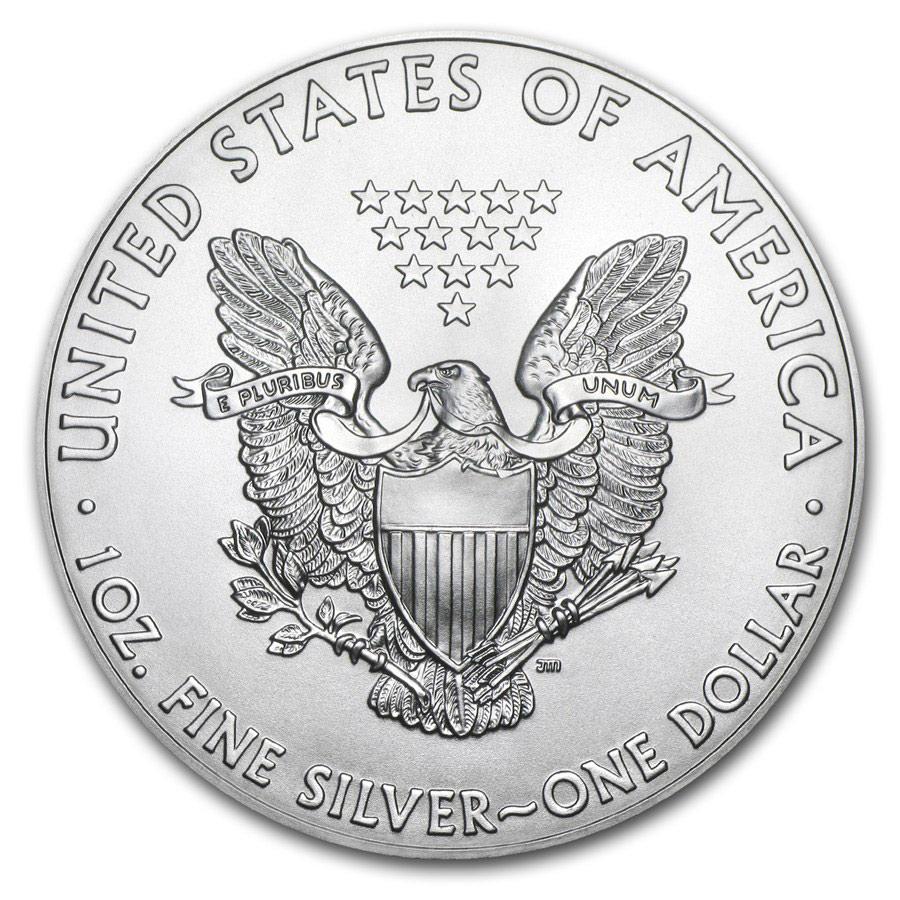 Acquistare Tubo da 20 Monete - 1 oncia moneta d'argento puro 999.0 American Eagle - Zecca Statunitense - Back