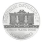 Investire in 1 oncia Philharmonic di platino puro - Austrian Mint - Back