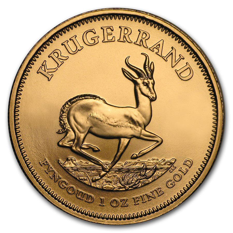 1 oz Fine Gold Coin 916.7 - Krugerrand Mixed Years