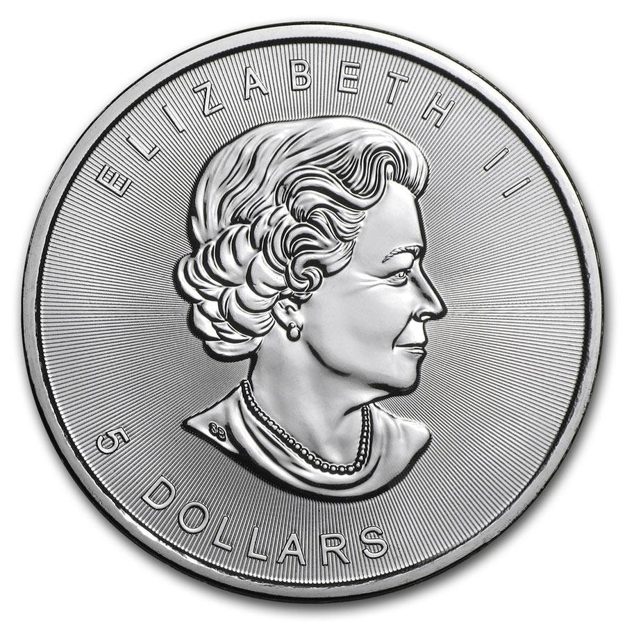 1 oz Fine Silver Coin 999.9 - Maple Leaf BU Mixed Years
