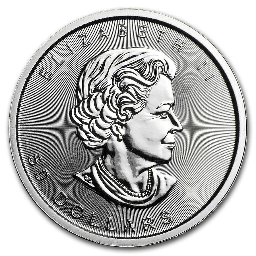 1 oz Fine Platinum Coin 999.5 - Maple Leaf BU Mixed Years