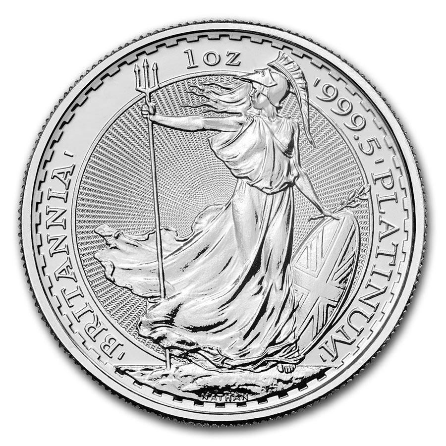 1 oncia moneta di platino puro 999.5 - Britannia BU Anni Misti
