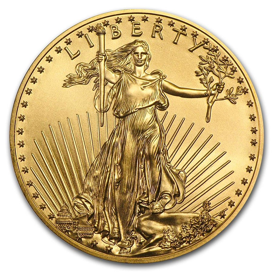 Invest in 1/10 oz Fine gold American Eagle - United States Mint - Front