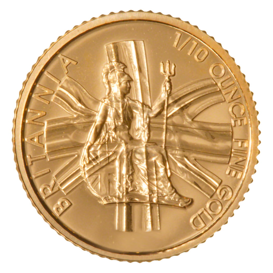 Invest in 1/10oz Fine gold Britannia - Royal Mint - Front