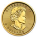 Invest in 1/10 oz Fine gold Maple Leaf - Royal Canadian Mint - Back