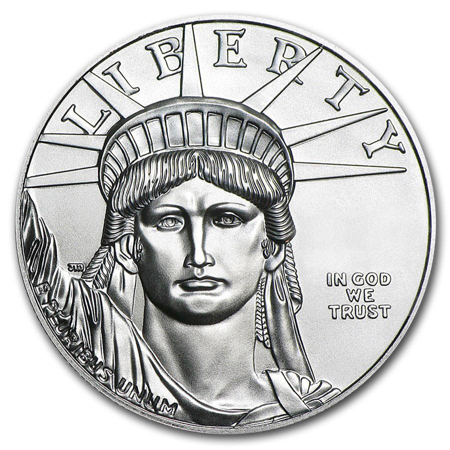 1/10 oncia moneta di platino puro 999.5 - American Eagle Anno casuale
