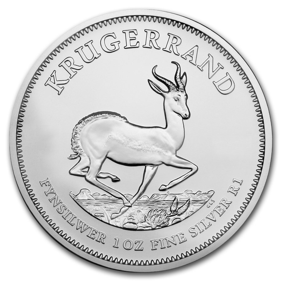 Tubo di 25 Monete Krugerrand d'Argento (Anni Misti)