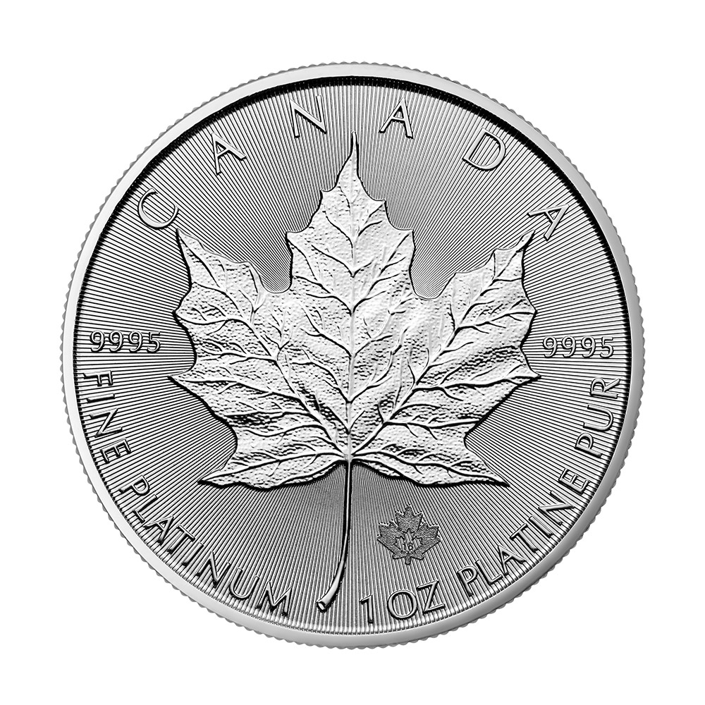 2018 1 oz Canada Platinum Maple Leaf BU