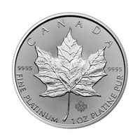 Maple Leaf en platine de 1 once BU - 2018
