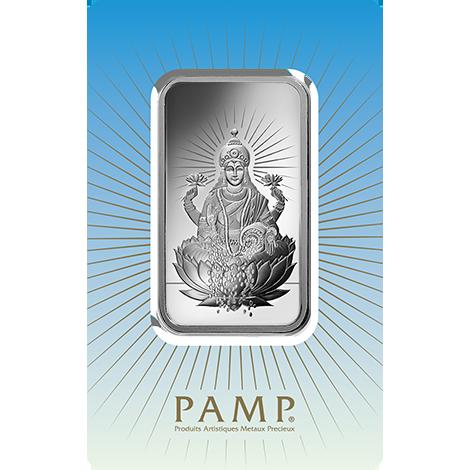 1 oz Fine Silver Bar 999.0 - PAMP Suisse Lakshmi