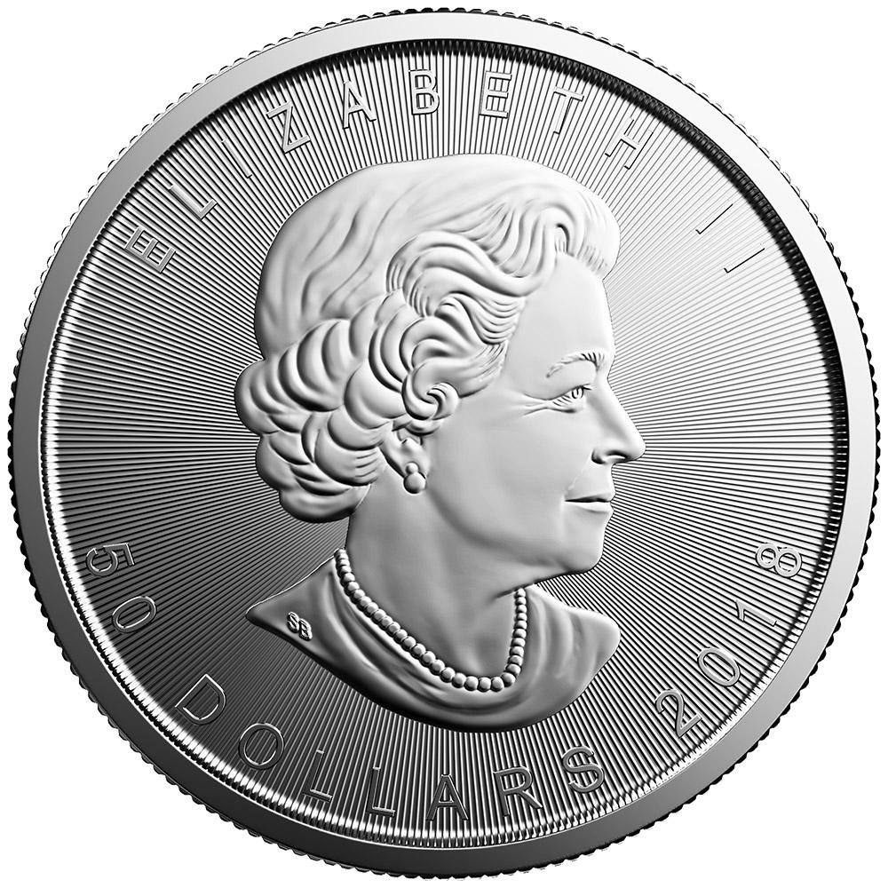 2018 1 oz Canada Platinum Maple Leaf BU
