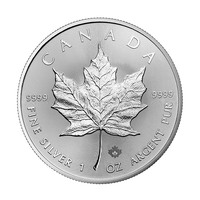 1 oz Silver Coin - Maple Leaf BU 2018