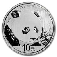 30 Gramm Silbermünze Panda BU 2018