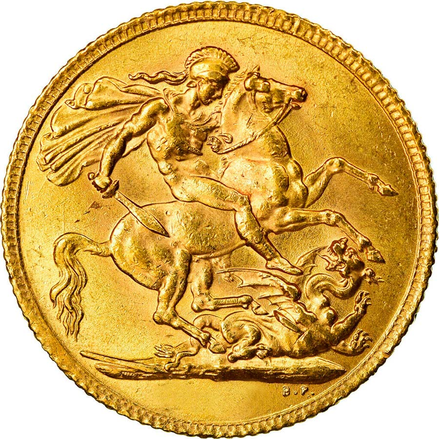 Fine Gold Coin 916.7 - Sovereign King George V