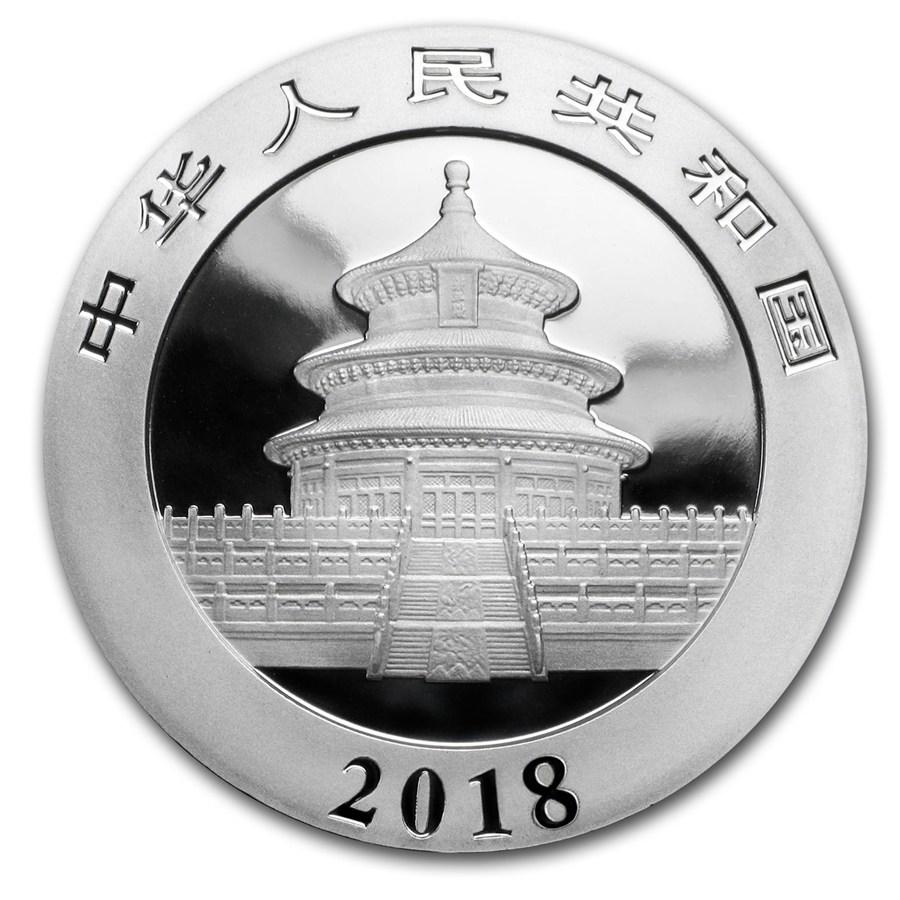 30 Gramm Silbermünze - Panda BU 2018