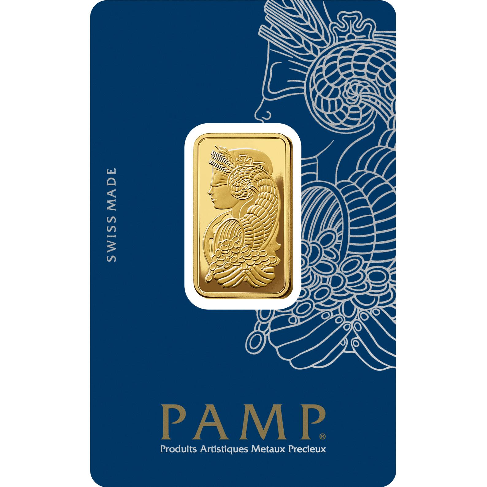 Lingotin d'or de 1/2 once - PAMP Suisse Lady Fortuna Veriscan