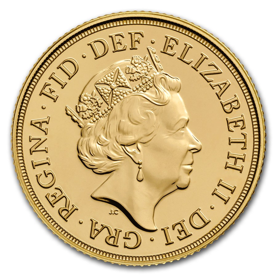 Gold Coin - Sovereign Elizabeth BU 2018