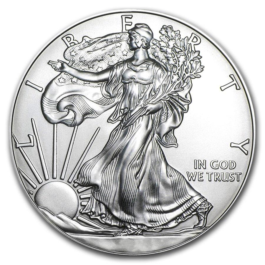 Tubo di 20 Monete Aquila Americana d'Argento (Anni Misti)