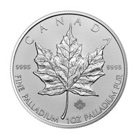 Maple Leaf en palladium de 1 once BU - Random year